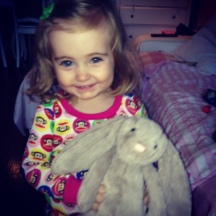 love bug & her easter rabbit