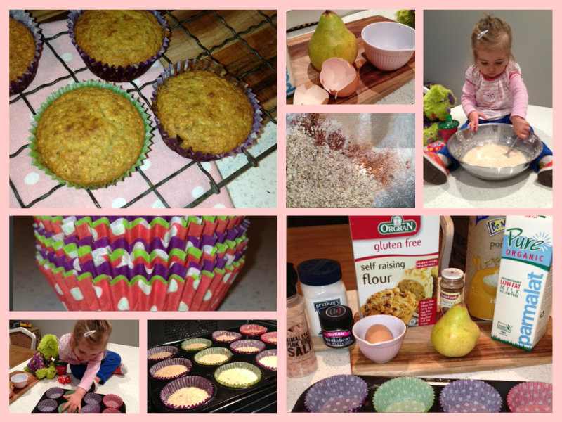 tasty tuesday pear upside down muffins