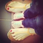 mini me - she chose the sandals herself