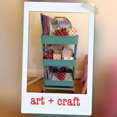 art & craft cart