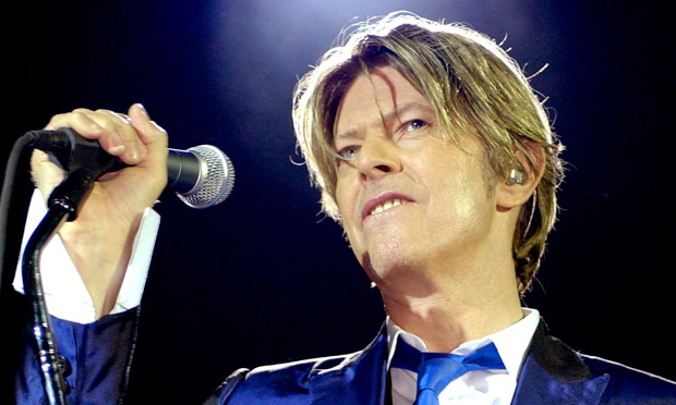 David Bowie performing at the Hammersmith Apollo