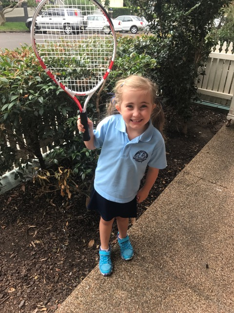 Senator Love Bug {who has also started tennis lessons}