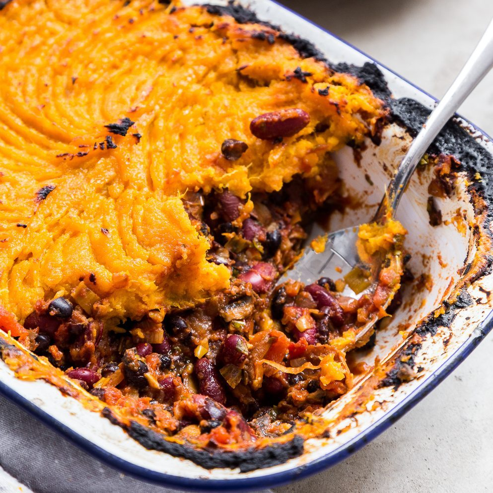 3 of 31 black bean shepherd's pie