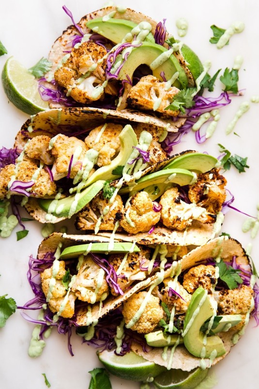 4 of 31 roasted cauliflower tacos